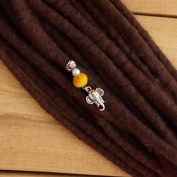 Indian elephant dread bead, loc jewelry, dreadlock jewelry, boho dread bead, indian hair bead