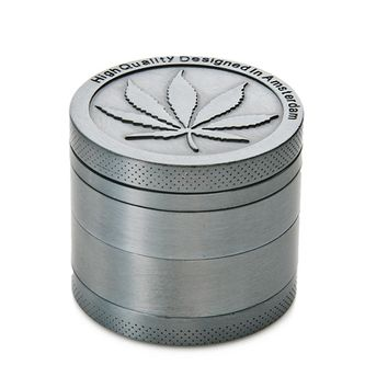 40mm 4 layers Metal Zinc Alloy Leaf Herb Grinder Spice Herbal Smoking Crusher Accessories Pipe Hand Muller Tobacco Herb Grinder