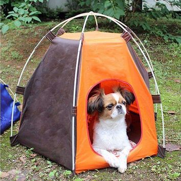 Portable Folding Pet Tent Dogs Cats Bed House Play Fun Indoor Outdoor Waterproof