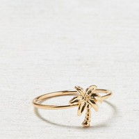 AEO Women's Palm Tree Ring (Gold)