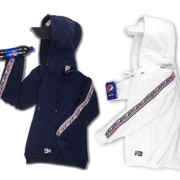 NOV9O2 FILA x Pepsi Fashion Hoodie Top Sweater