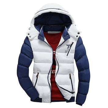 High Quality New Casual Winter Jacket for Men's Hooded Silm Thick Warm Down Cotton Jacket Outwear Bussiness Parkas Plus Size 3XL