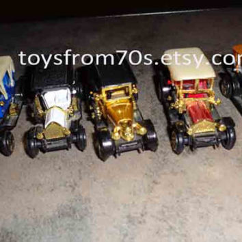 Vintage antique roadster toy cars, Great gatsby collectible  car set of five