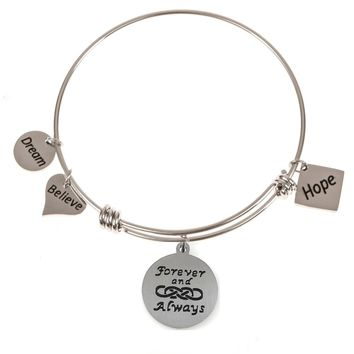 Expandable Bangle Forever and Always Double Infinity