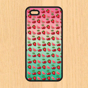 Cherry and Watermelon Art iPhone 4 / 4s / 5 / 5s / 5c /6 / 6s /6+ Apple Samsung Galaxy S3 / S4 / S5 / S6