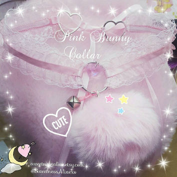 Pink Bunny Lace Collar