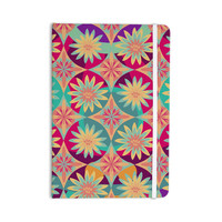 "Nika Martinez ""Happy Flowers"" Floral Abstract Everything Notebook"