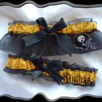 Pittsburgh STEELERS Ribbon NFL Wedding Garter by TheArtofSports