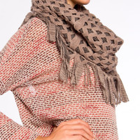 Shaggy Knit Infinity Scarf - 2020AVE