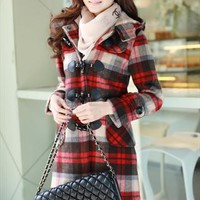 2 colors red wool elegant winter coat final sale gwh178 from GHLfashion