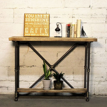 Furniture Pipeline Houston Industrial Chic Console Table