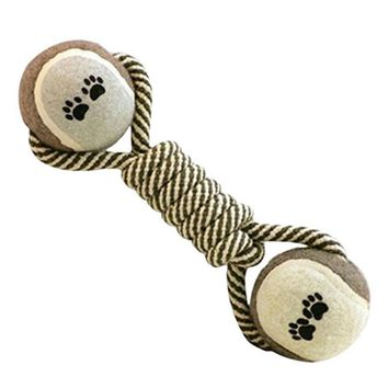 Dumbbell Rope Tennis Pet Chew Toy Puppy Dog Toy Clean Teeth Training Tool Toys for Dog