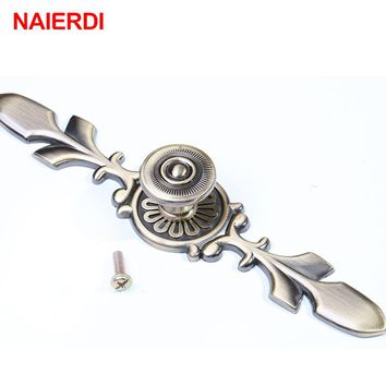 NAIERDI 120MM Bronze Handles Kitchen Door Cupboard Zinc Alloy European Modern Wardrobe Furniture Drawer Pulls Cabinets Knobs