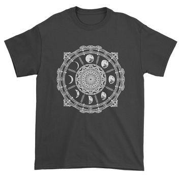 White Phases Of The Moon Compass Mens T-shirt