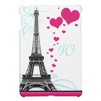 Mod Flourish Eiffel Tower Monogram iPad Mini Case from Zazzle.com