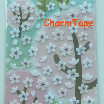 Funny Deco sticker art stickers - Felt Cherry Blossoms 1 Sheets ss443