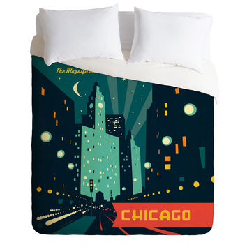 Anderson Design Group Chicago Mag Mile Duvet Cover