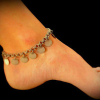 Buy 2 Get 1  FREE--Sexy Summer Anklet - Dangling Antique Silver Coins