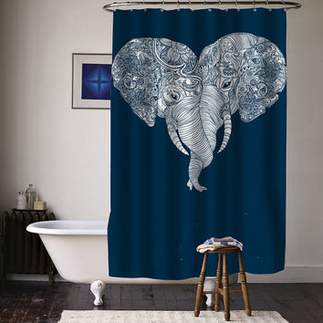 elephant Punch Trunk Love special custom shower curtains available size
