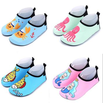 swimming shoes kids children mermaid fish cartoon slippers diving socks for surfing water sports diving socks beach accessories