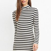Mock Neck Striped Dress