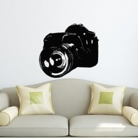 Wall Decals Vinyl Decal Sticker Retro Camera Canon Nikon Mural Art Design Photo Studio Chu1245