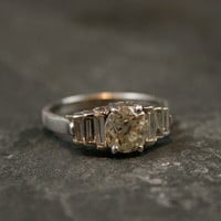 Art Deco Diamond Engagement Ring by Ruby Gray's | Ruby Gray's Antique & Vintage Rings