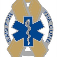 EMS For the Cure Gold Ribbon Star of Life Reflective Decal