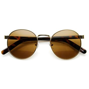 Vintage Inspired Dapper Round P3 Spectacle Sunglasses 9137