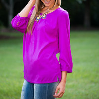 Feel My Love Blouse, Purple