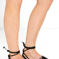 Circus by Sam Edelman Lilly Black Mesh Lace-Up Espadrilles