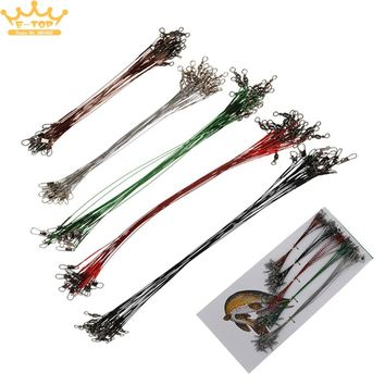 5 Colors 100pcs Carbon Steel Fishing Line Wire Leader Lure Tracer Accessory