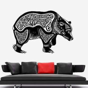 Wall Vinyl Bear Russian Symbol Animal Ornament Mural Vinyl Decal Unique Gift (z3332)