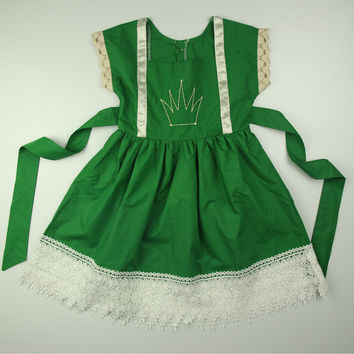 "The ""Annalise"" Irish Princess Green Crown Dress"