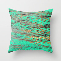 Aqua Wood II Throw Pillow by Richard Casillas | Society6