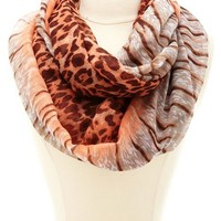 ANIMAL PRINT OMBRE INFINITY SCARF