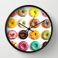 Donuts Wall Clock by Lyre Aloise