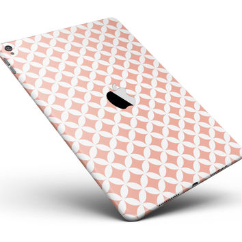 "The Apricot and White Overlapping Circles Full Body Skin for the iPad Pro (12.9"" or 9.7"" available)"