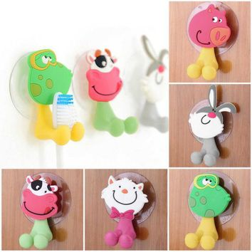DCCKL72 cute Cartoon sucker toothbrush holder suction hooks bathroom set accessories Eco-Friendly