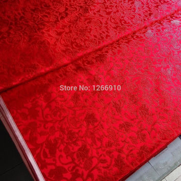 chinese silk brocade  fabric cheongsam cushion Grapes red pattern Tapestry satin