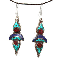 Dropping Turquoise Earrings