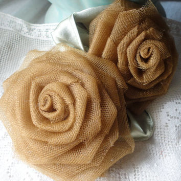 Free Shipping Bronze Roses Statement Flower by RosesForClementine