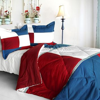 [Fate Sky] Quilted Patchwork Down Alternative Comforter Set (King Size)