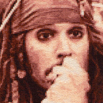Jack Sparrow Cross Stitch Pattern