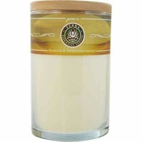 PEACE by Peace MASSAGE & INTENTION SOY CANDLE 12 OZ TUMBLER. A BLEND OF LAVENDER, BERGAMONT & YLANG YLANG WITH A LEPIDOLITE GEMSTONE. BURNS APPROX. 30+ HOURS