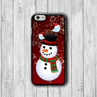 Electronics Cases - RED CHRISTMAS Snow Man Cartoon With Cute Blue Bird iPhone 6 Cases, iPhone 5/5S Cover, iPhone 4/4S, iPhone 5C Christmas
