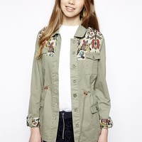 Bellfield Festival Parka With Tapestry Trim -