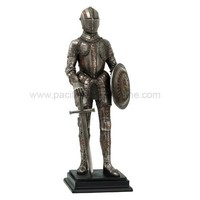 Medieval Knight Standing with Sword and Shield