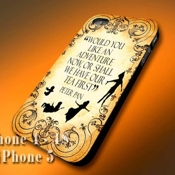 Plastic/Silicone - Disney Peter Pan Never Grow Up Quote - Design Print Case for iPhone 4,4s,5,5s,5c and Samsung S2,S3,S4