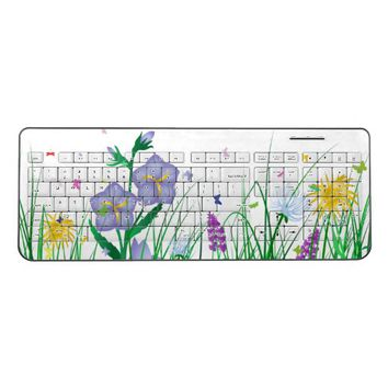 Flowers Wireless Keyboard